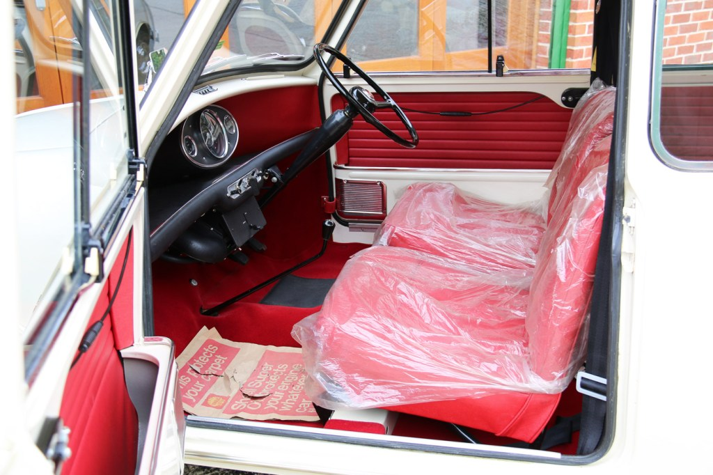 Inside, the Mini still retains the original plastic seat covers