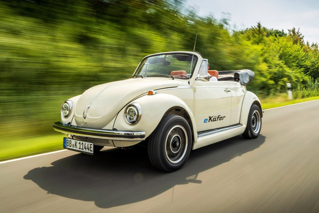 The e-Beetle is capable of speeds up to 150 km/h