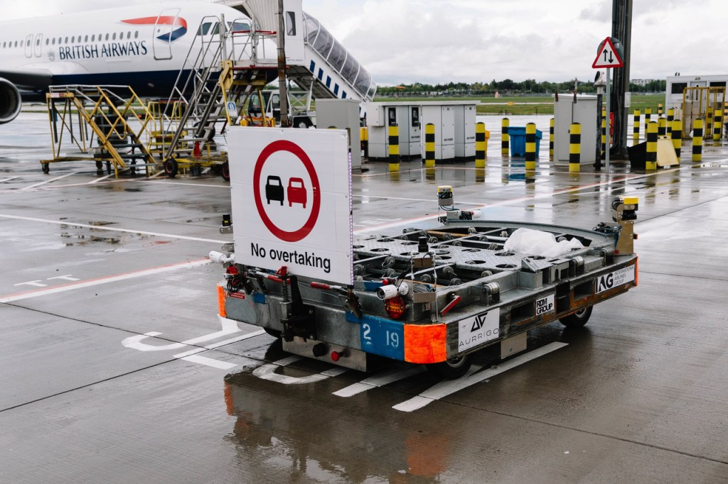 British Airways Driverless Baggage Vehicles