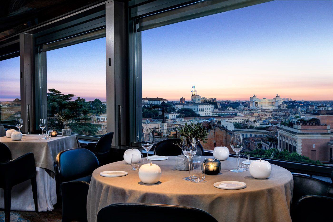 The Michelin-starred La Terrazza restaurant.