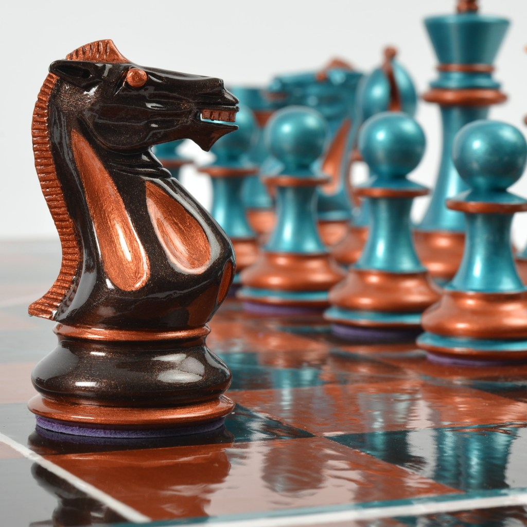 Art Chess by Nette Robinson - Copper Peacock