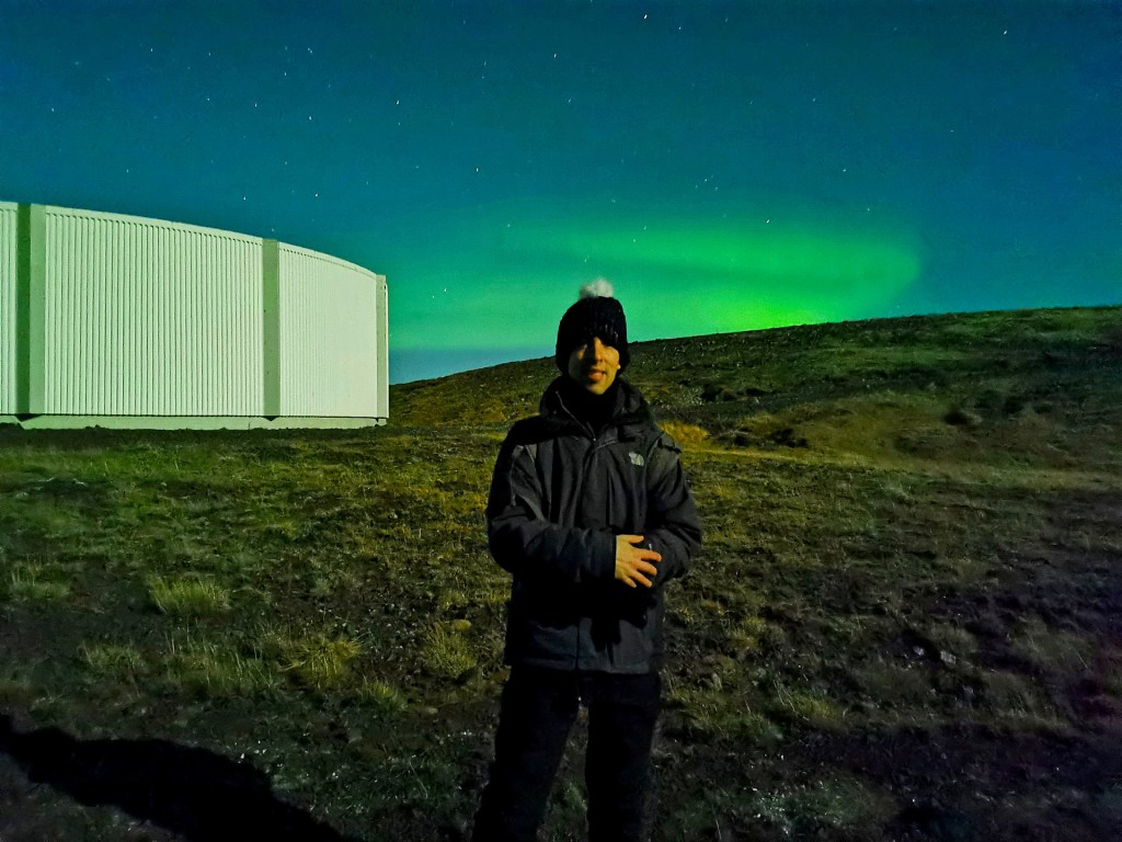 Simon Wittenberg and the Northern Lights in Iceland