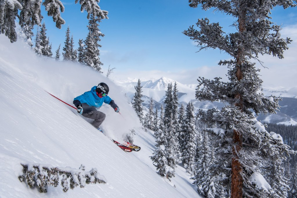 Skiing at Crested Butte in Colorado