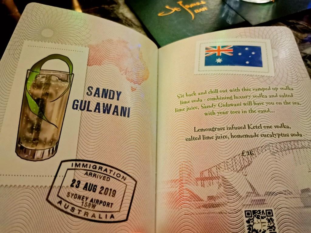 Sofitel London St James cocktail passport