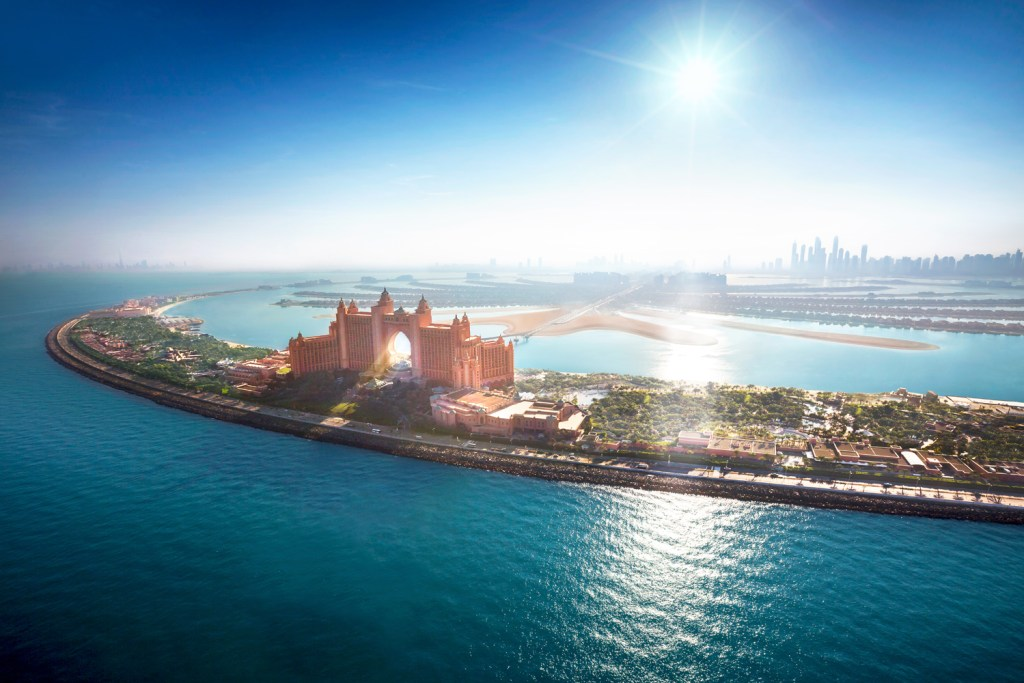 Aerial photograph of Atlantis The Palm