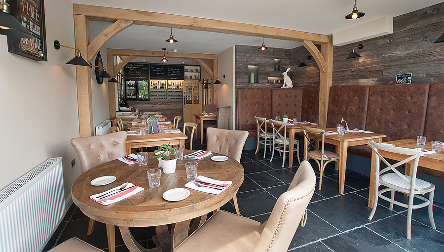 Dining area at the Hare & Hounds Levens in the Lake Districts Lyth Valley