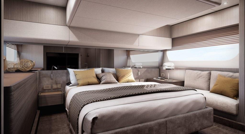 Ferretti Yachts 500 master cabin