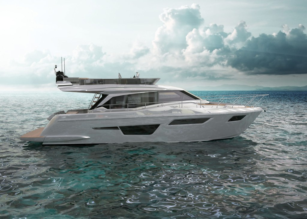Ferretti Yachts 500 side profile