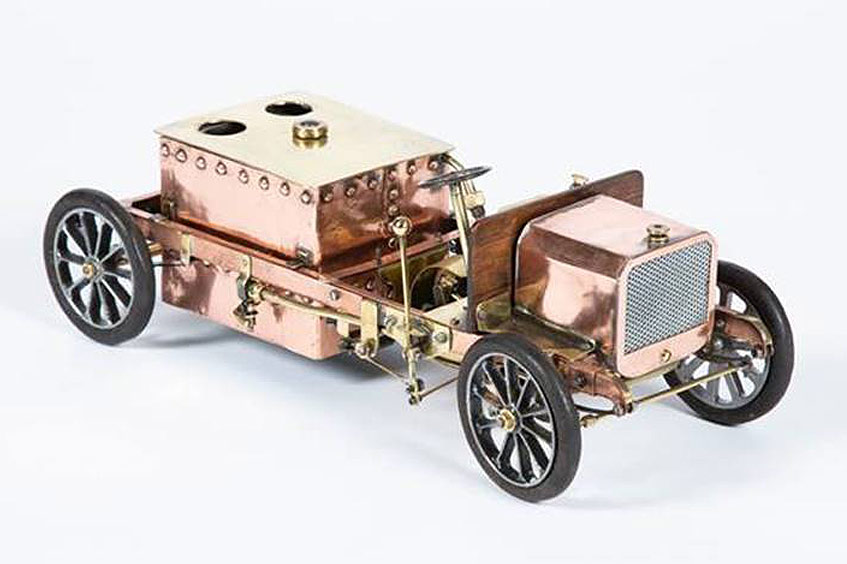 Steam motor car copper and brass