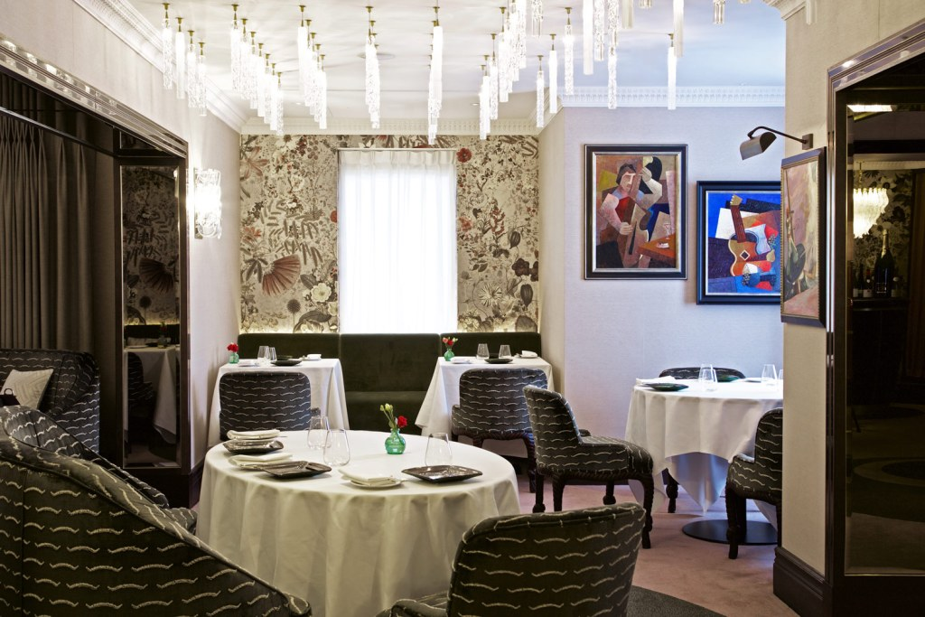The dining tables at Seven Park Place in London