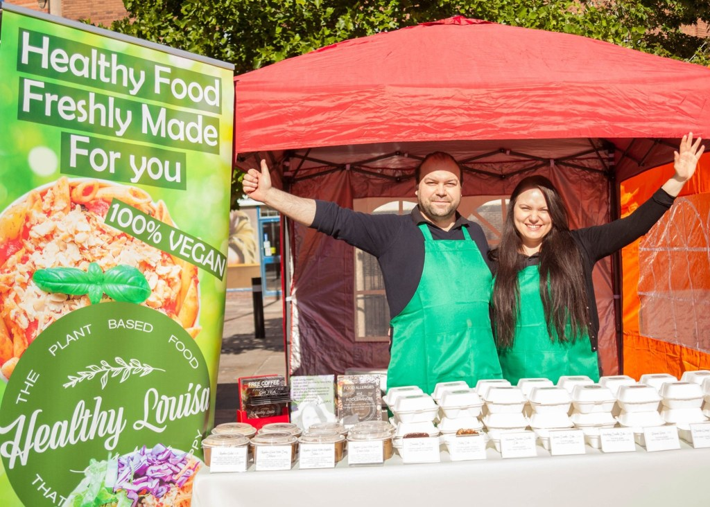 The Healthy Louis stall at Where to Vegan