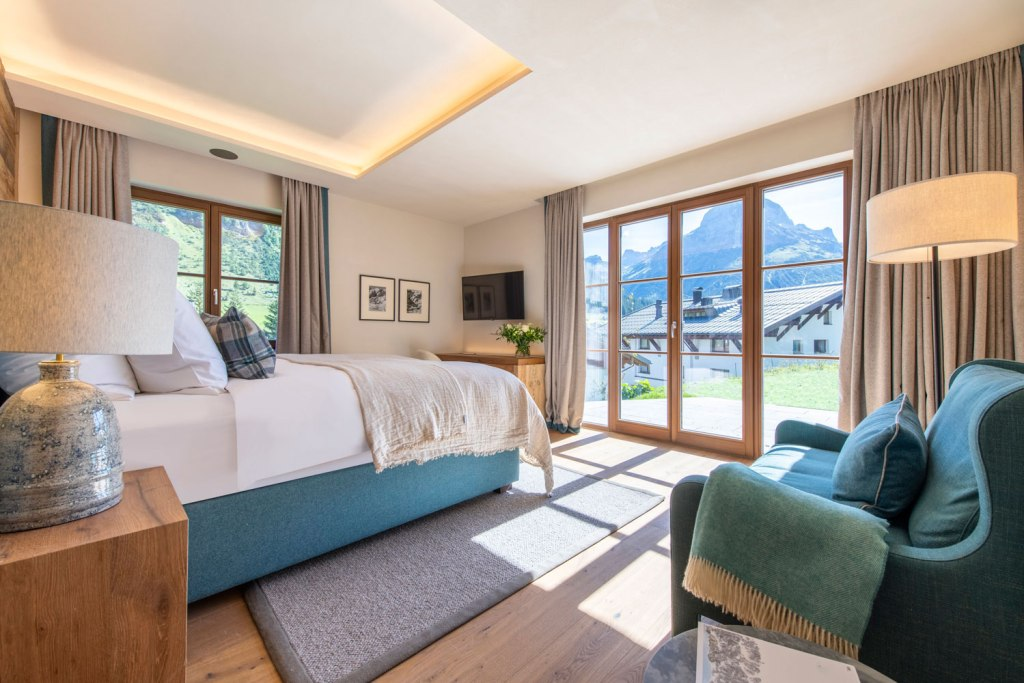 The view from a bedroom in one of the Bramble Ski luxury chalets