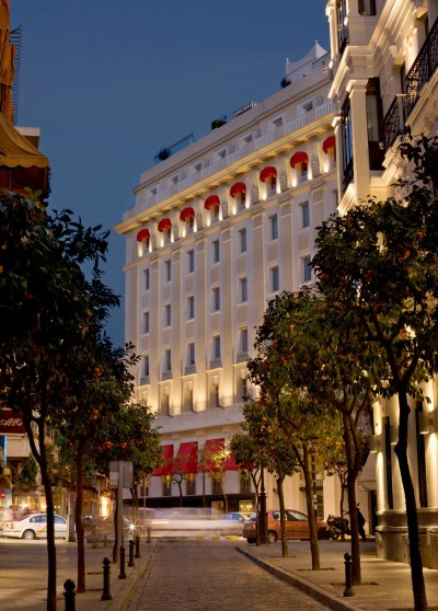Exterior of the Hotel Colón Gran Meliá In Seville