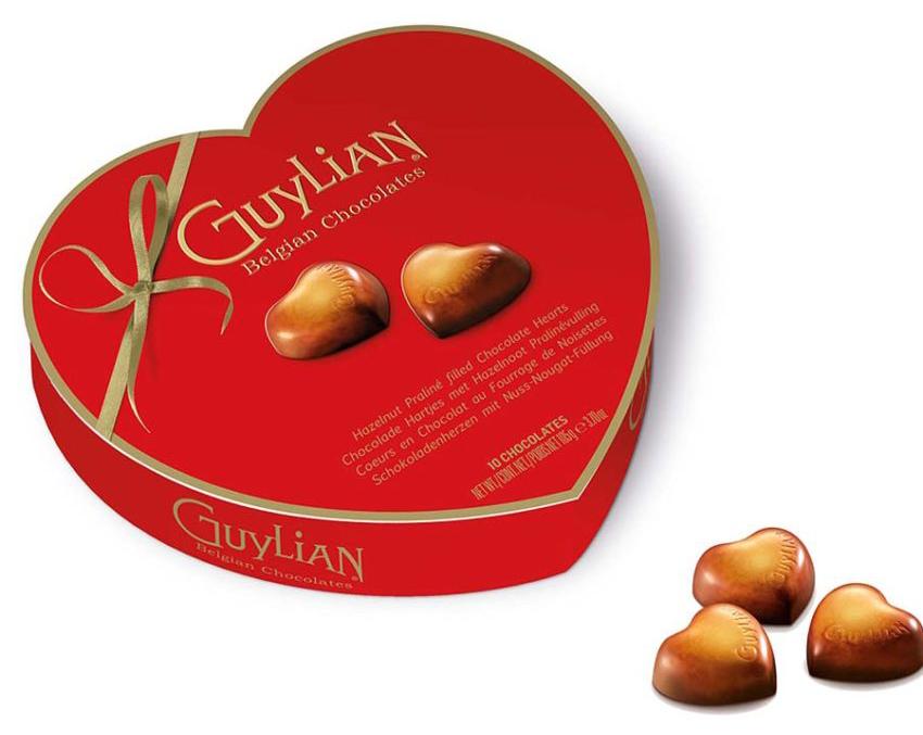 Guylian Chocolate Praline Hearts box