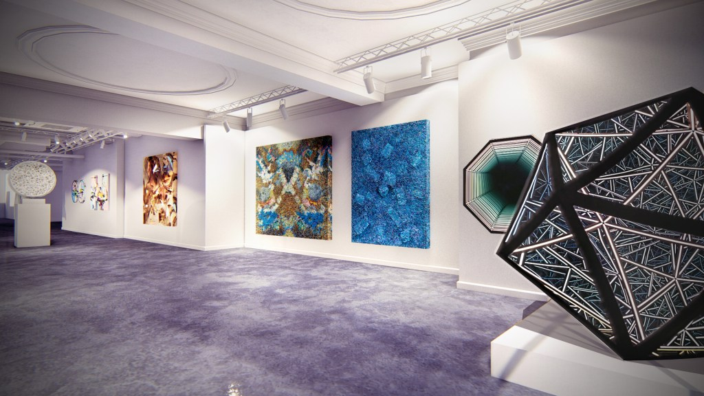 Inside the HOFA Gallery in Bruton Street Mayfair