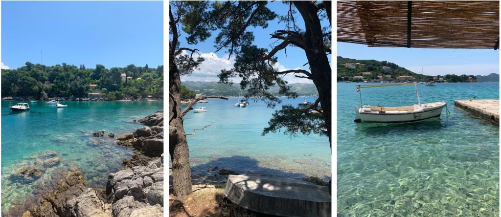 Koločep Island waterfront in Croatia