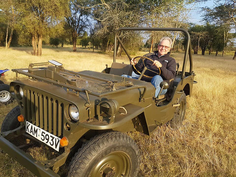 Rob Collinge in a 1954 Willy Jeep