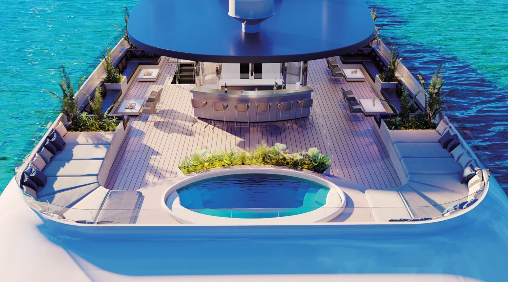 The Emerald Azzurra skydeck with pool
