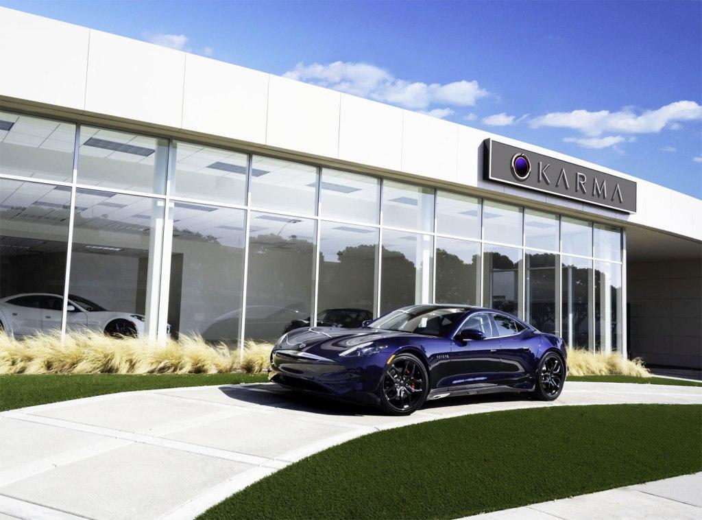 The Karma electric car showroom in Newport Beach