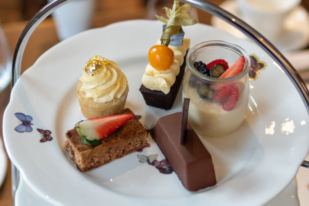Vegan afternoon tea at Galvin At The Athenaeum cakes and desserts