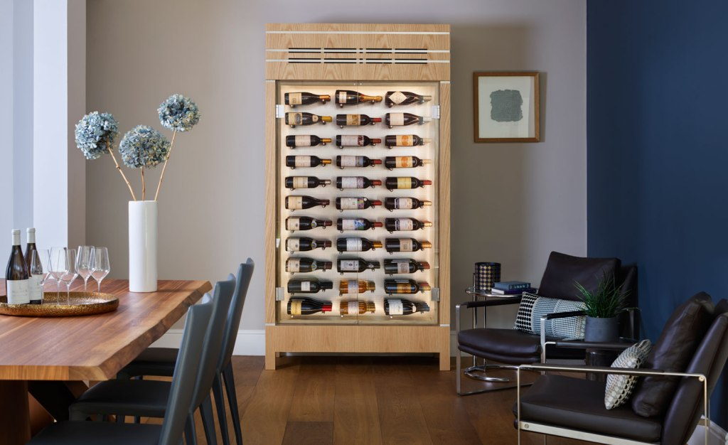 Bespoke wine cabinet by Spiral Cellars