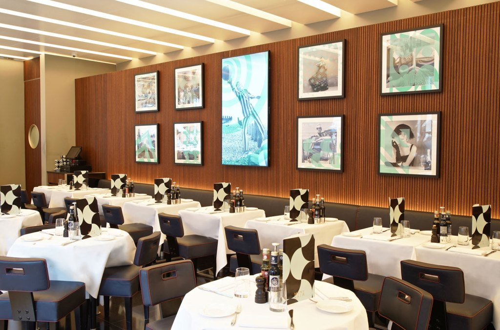 Inside the MAIA restaurant In Knightsbridge