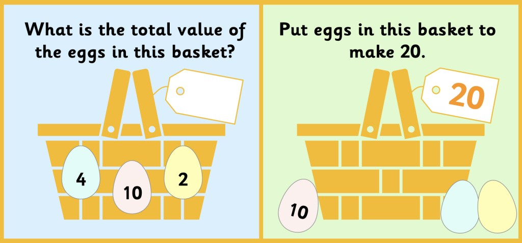 Easter number challenge to keep kids entertained