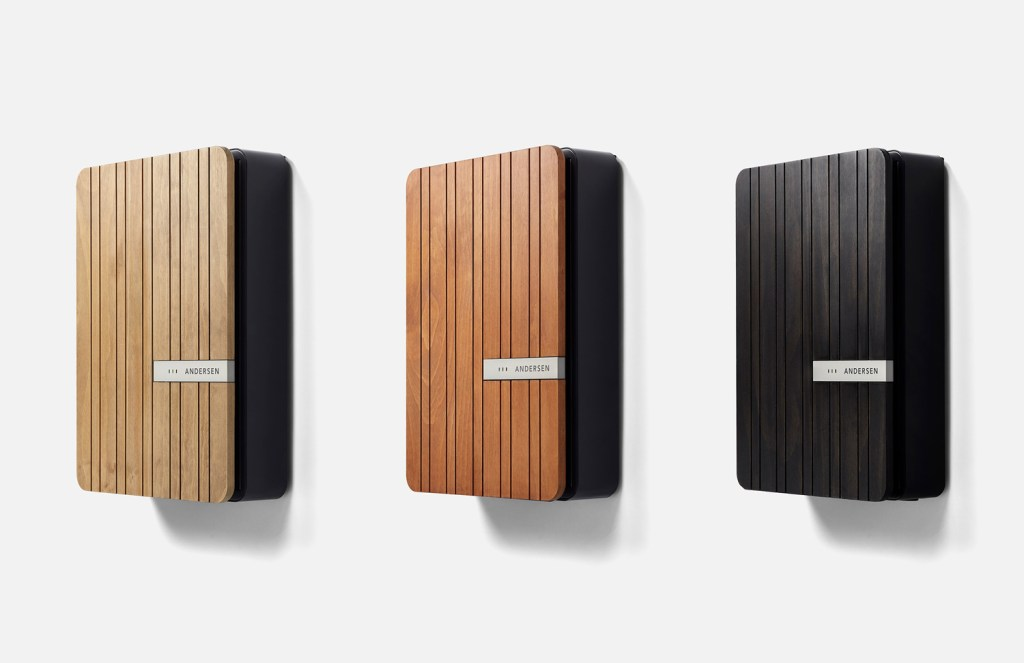 Andersen A2 wall chargers in Acoya wood