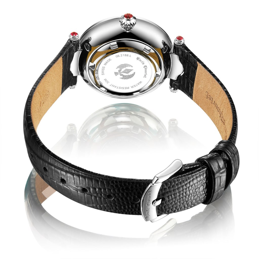 Fair Lady Lotus Red dial rear case and winder