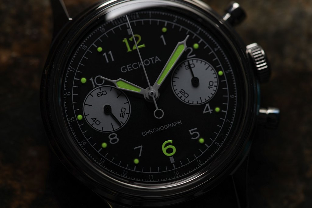 The collection features striking vintage lume paint