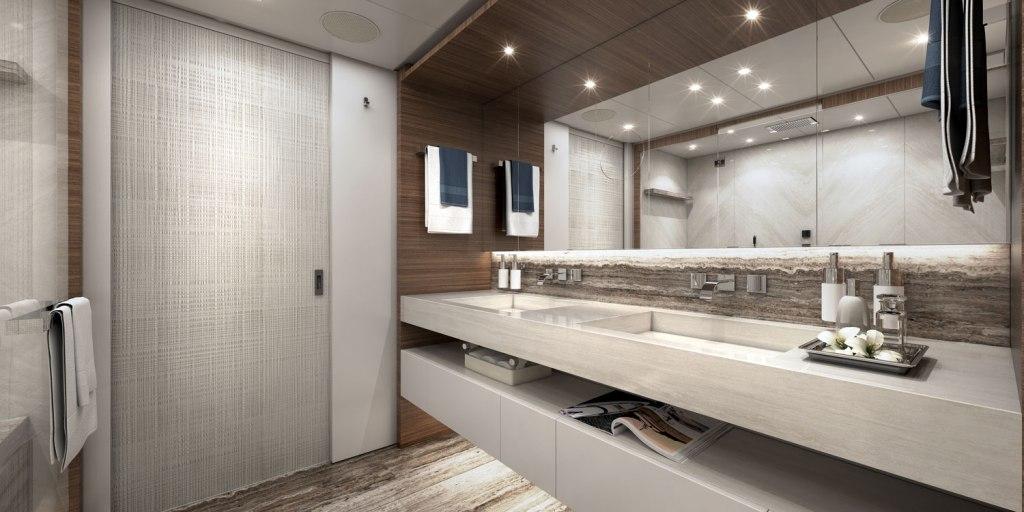 Heesen Yachts Project Altea owners bathroom