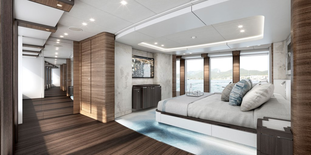 Heesen Yachts Project Altea owners stateroom