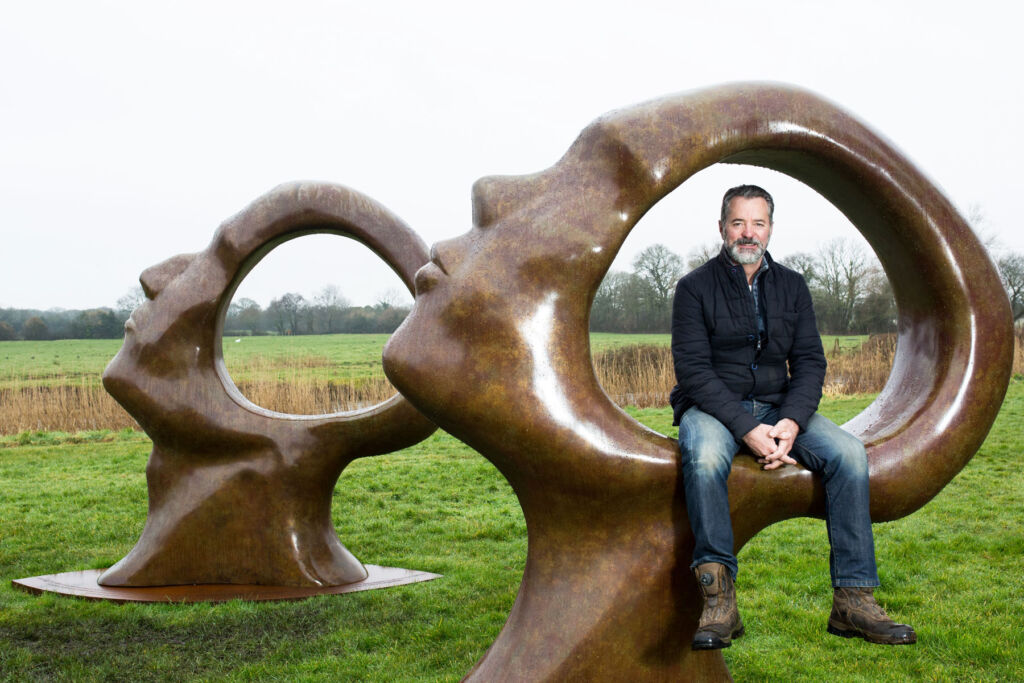 British Sculptor Simon-Gudgeon with Search for Enlightenment