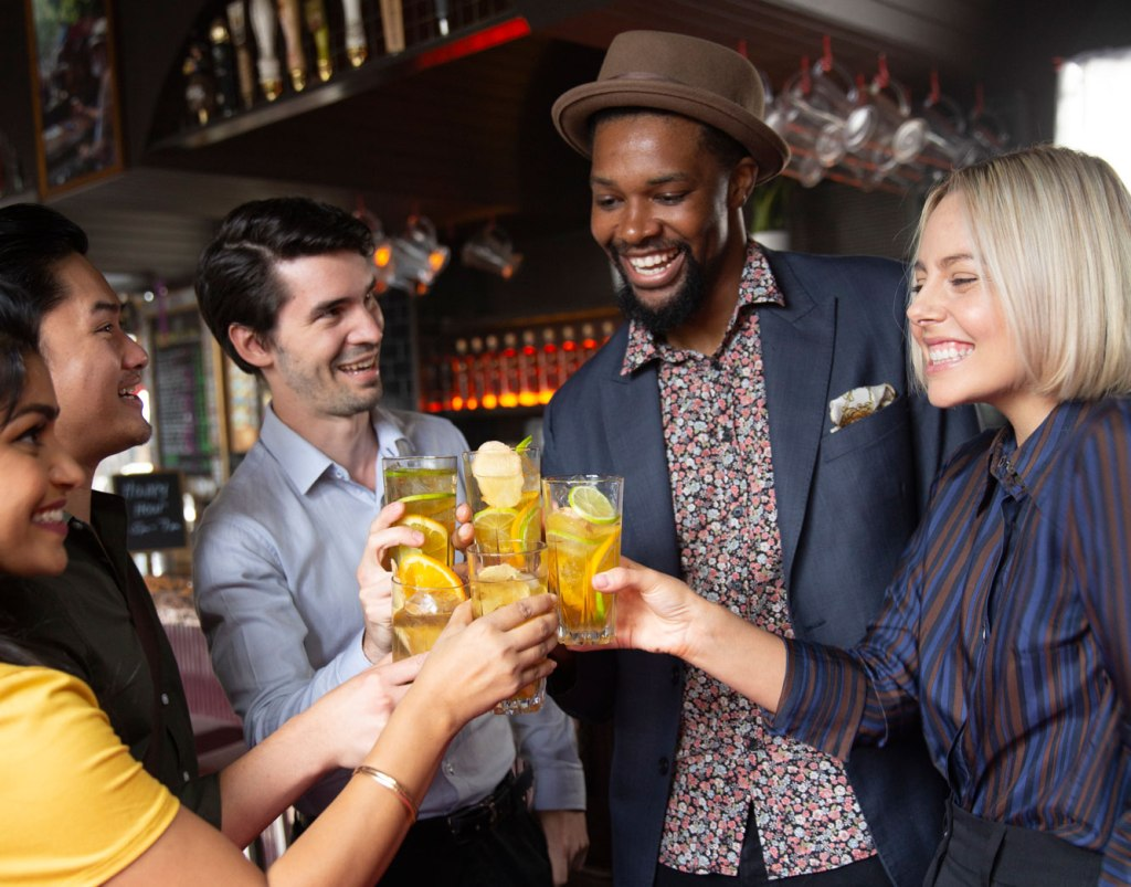 People enjoying a glass of Johnnie Walker Ghost and Rare