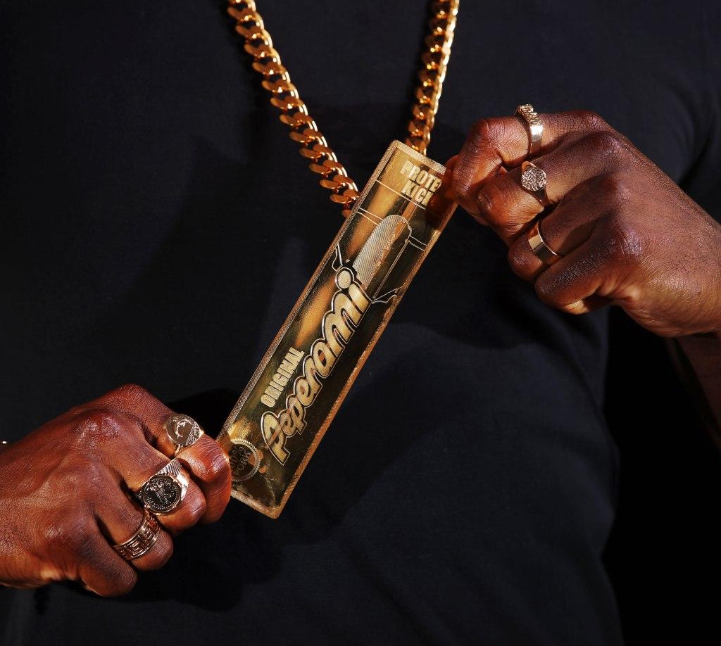 18k Gold Peperami necklace