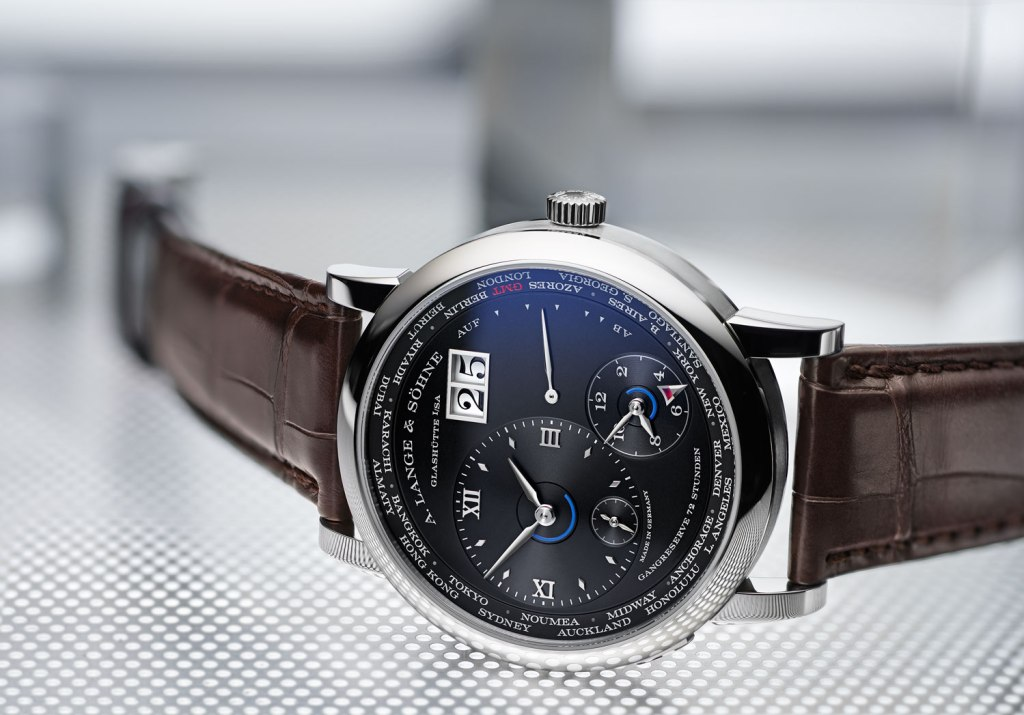A Lange & Sohne 1 Lange Time Zone dial