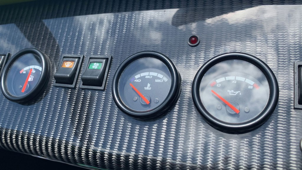 Caterham 270R dashboard dials and switches