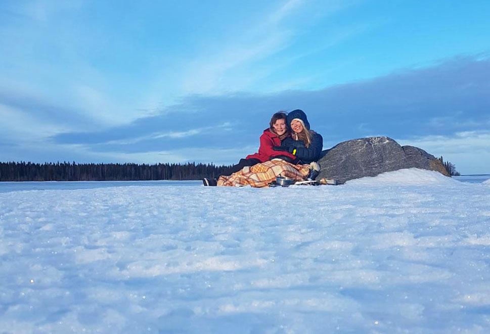 Enjoying time on the island of Hindersön