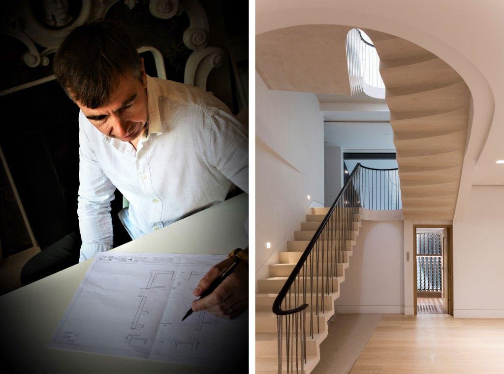 Ian Knapper stone staircase design service
