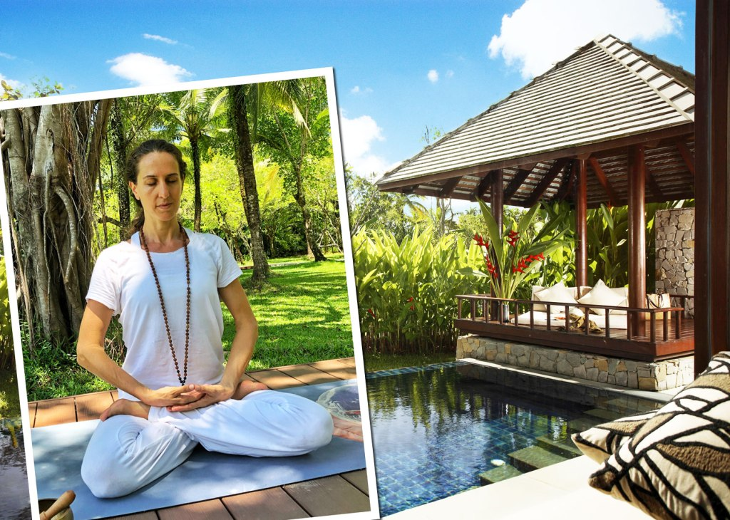On The Mat With Yoga Teacher Justine Capdevielle at The Sarojin
