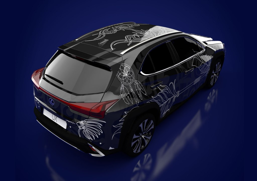 Winner of the Lexus Design Your Own Tattooed Car competition