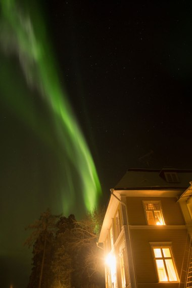 Northern lights over Melderstin Manor Sweden
