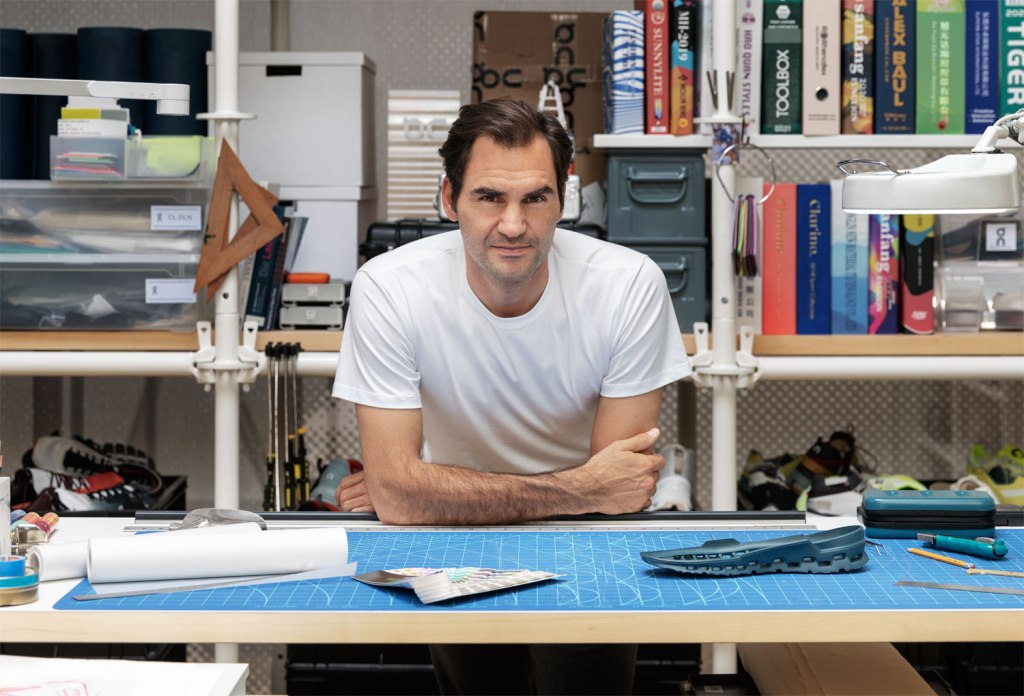 Roger Federer in the On Trainers design department