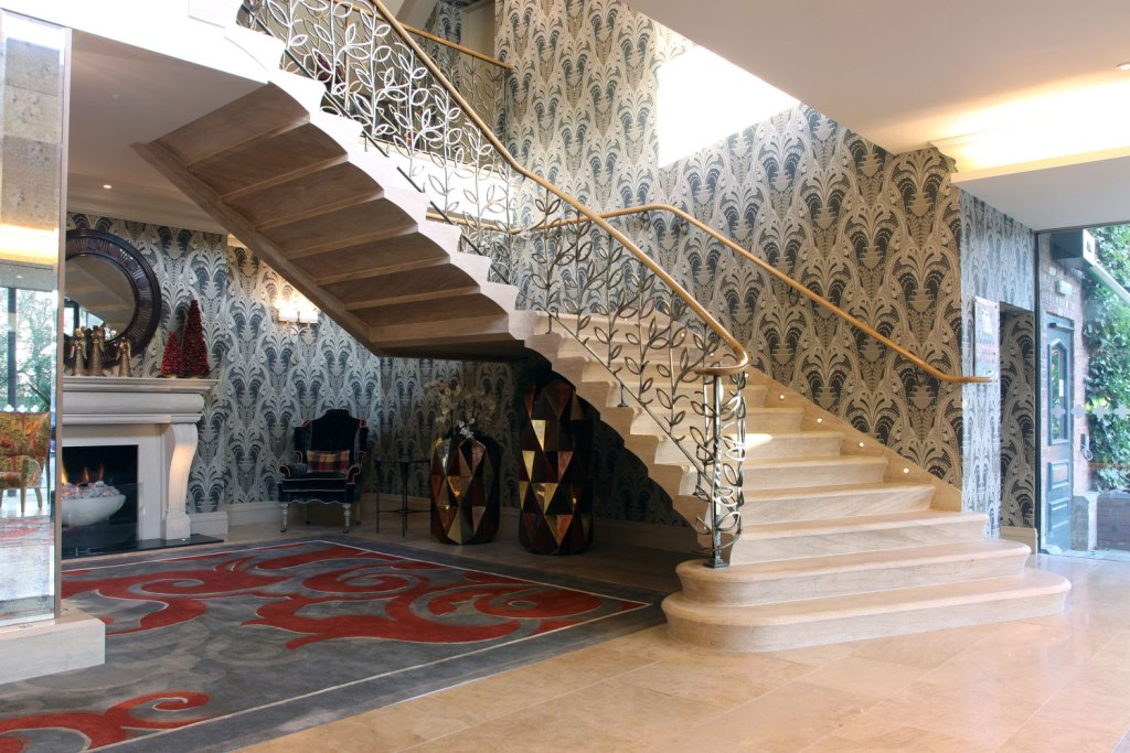 Stone staircase in a UK house