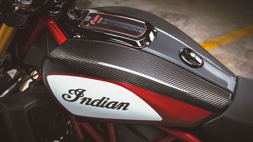 The Indian FTR 1200 Carbon tank