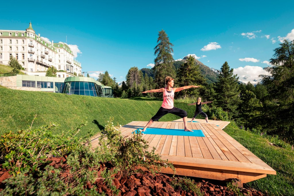 Grand Hotel Kronenhof Debuts Socially-Distanced Outdoor Spa Platforms