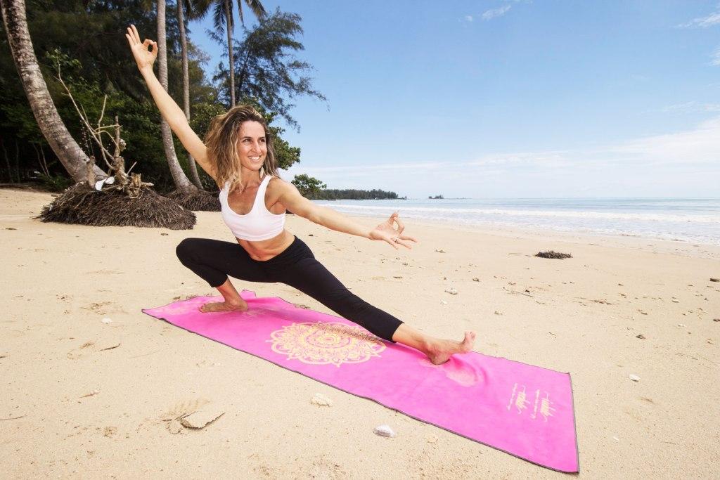 Yoga on the beach in Thailand
