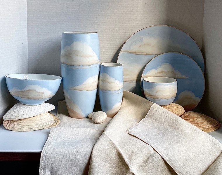 Designer Jonathan Hansen's Ciels Bleus Porcelain Collection