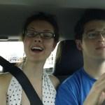 Clara and John in the backseat.