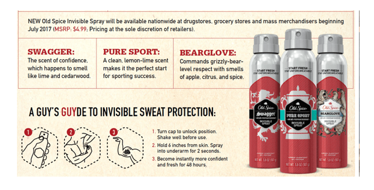 Old Spice Invisible SPray